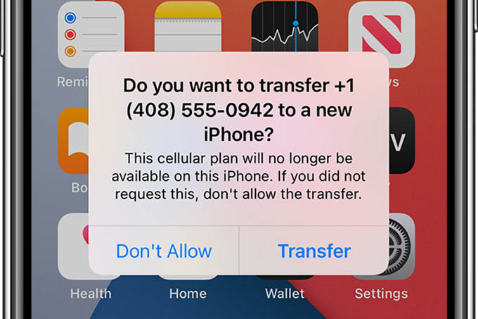 Transfer eSIM from Old iPhone to New iPhone