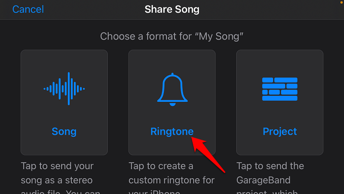 export voice memo as ringtone