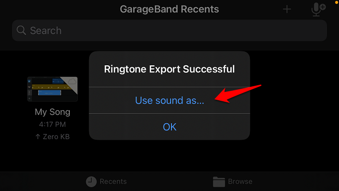 Use sound as option