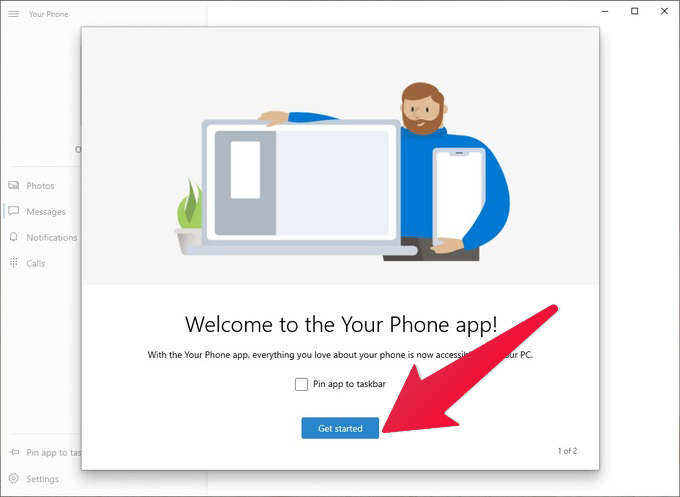 Get started with Your Phone app on Windows 10