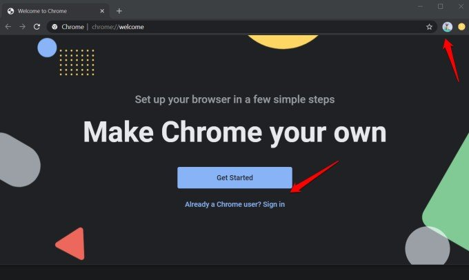 new google chrome profile