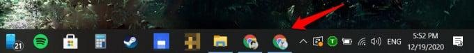 google chrome profile icons taskbar