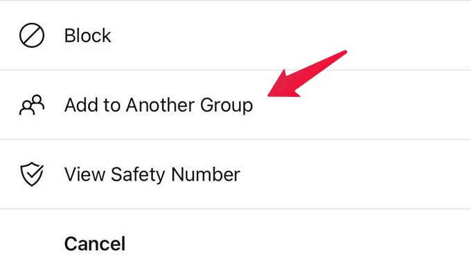 Add Members from One Group to Another in Signal