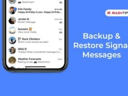 Backup & Restore Signal Messages