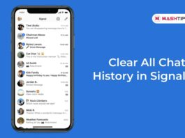 Clear All Chat History in Signal -F