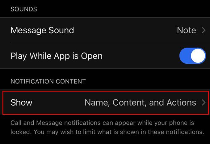 Customize Signal Notifications