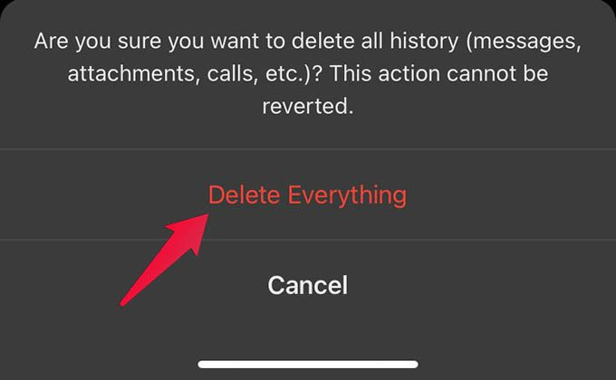 Delete All Chats in Signal App