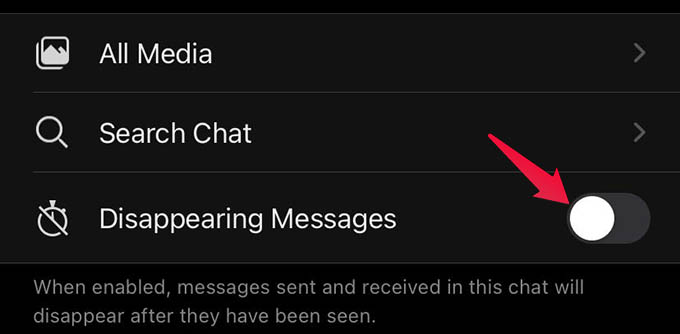 Enable Disappearing Messages in Signal App