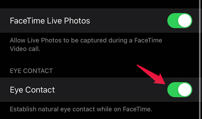 Fake Eye Contact in FaceTime Calls
