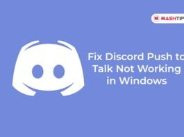 Fix Discord Push to Talk Not Working in Windows