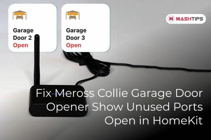 Fix Meross Collie Garage Door Opener Show Unused Ports Open in HomeKit