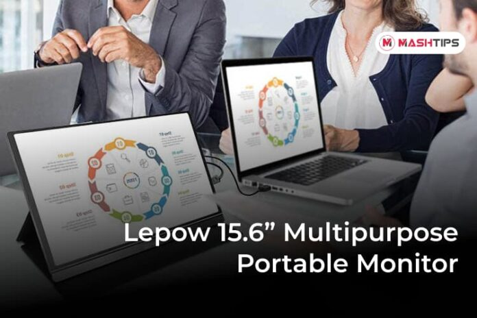 "Lepow 15.6"" Multipurpose Portable Monitor"