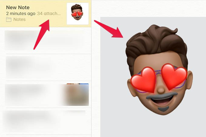 Open Note and Double Click Memoji Sticker Images