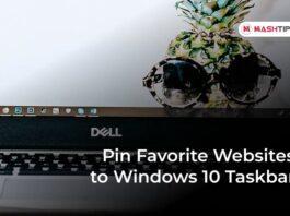 Pin Favorite Websites to Windows 10 Taskbar