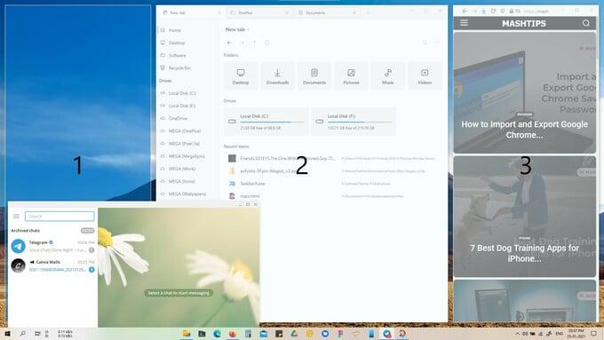 Windows 10 Powertoys drag windows to FancyZones