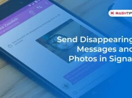 Send Disappearing Messages and Photos in Signal