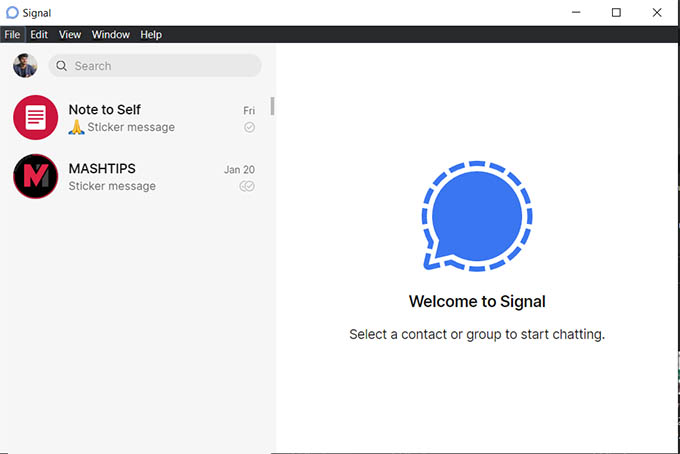 Signal Desktop App