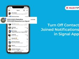 Turn Off Contact Joined Notifications in Signal App