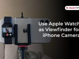Use Apple Watch as Viewfinder for iPhone Camera