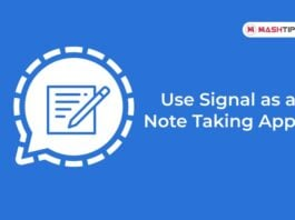 Use Signal as a Note Taking App