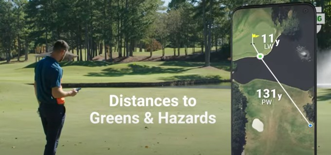 golf app with gps and maps