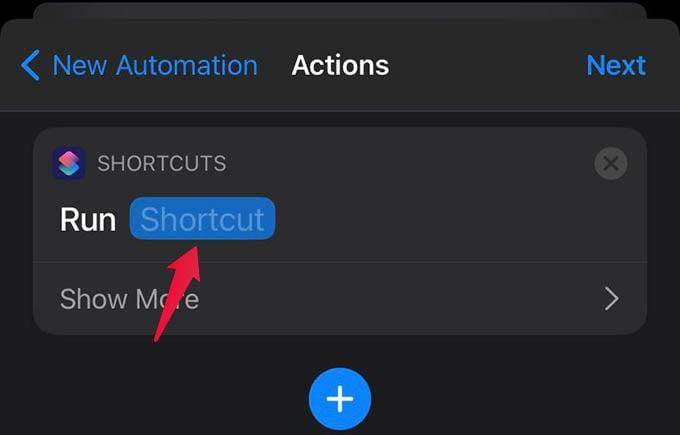 Add Shortcut input to Automation
