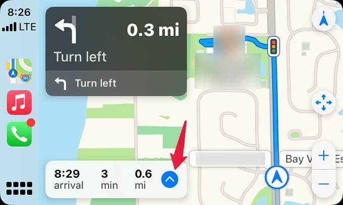 Apple Maps Navigation Options Apple CarPlay