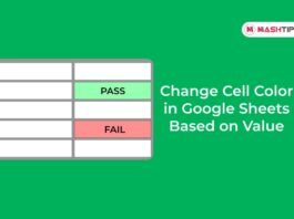 Change Cell Color in Google Sheets Based on Value