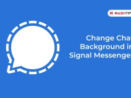Change Chat Background in Signal Messenger
