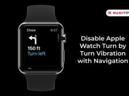 Disable Apple Watch Turn by Turn Vibration with Navigation