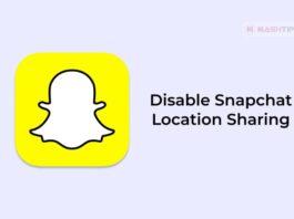 Disable Snapchat Location Sharing