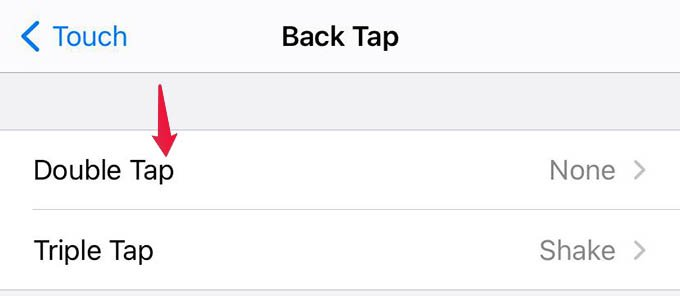 Double Tap and Triple Tap Options in iOS BackTap