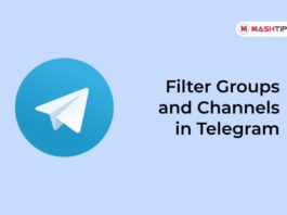 Filter Groups and Channels in Telegram