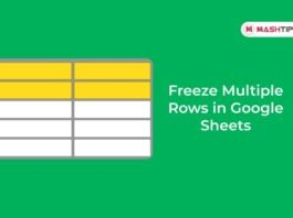 Freeze Multiple Rows in Google Sheets