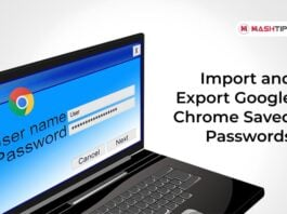Import and Export Google Chrome Saved Passwords