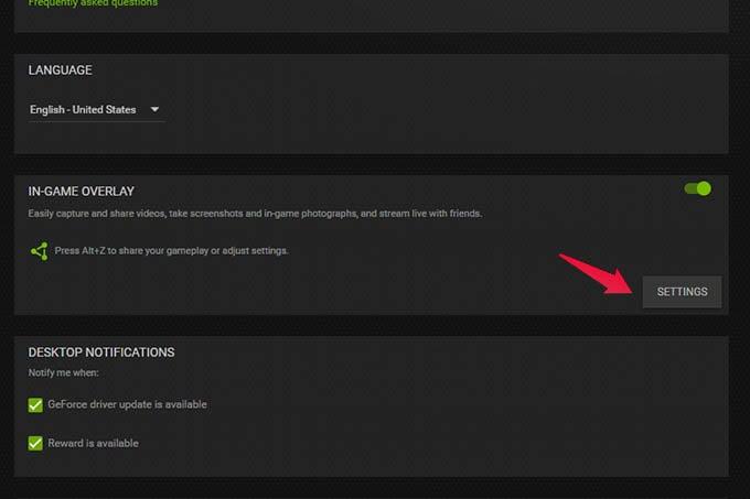 Nvidia ShadowPlay In Game Overlay