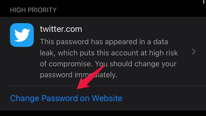 Password Leak Detect iPhone