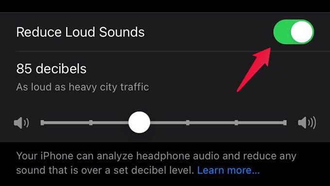 Reduce Loud Sounds in iPhone Headphones