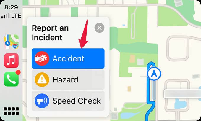 Report Traffic Accidents in Apple Maps