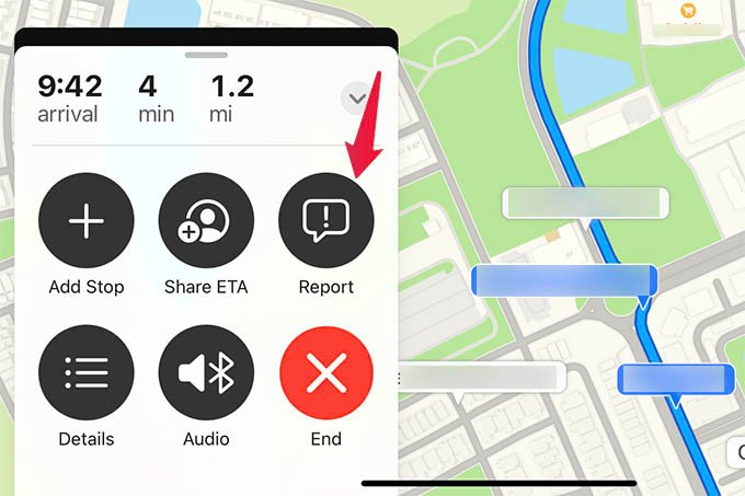 Report an Incident in Apple Maps