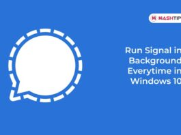 Run Signal in Background Every time in Windows 10