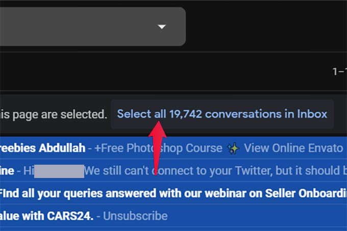 Select All Emails in Gmail Inbox