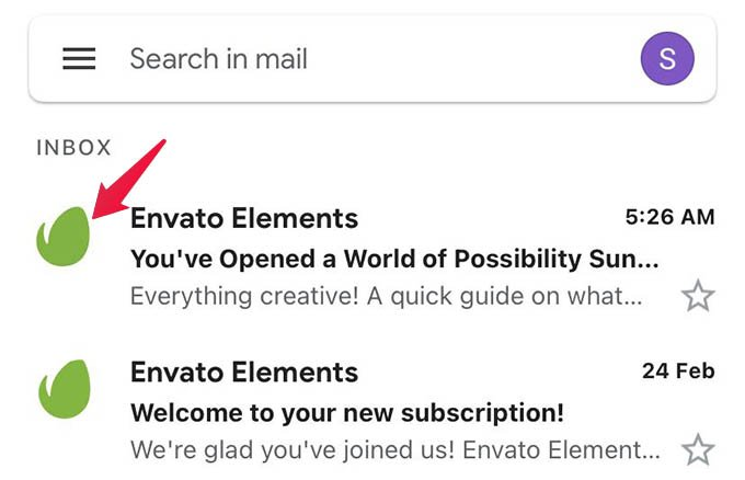 Select Emails in Gmail App on iPhone or Android