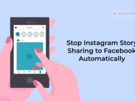 Stop Instagram Story Sharing to Facebook Automatically