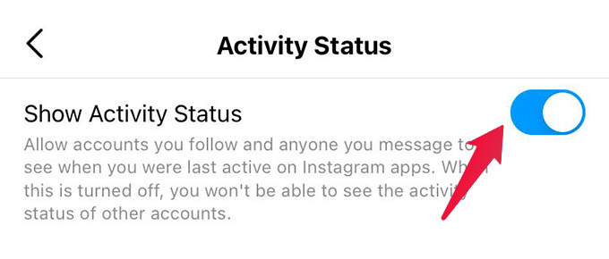 Turn Off Activity Status in Instagram