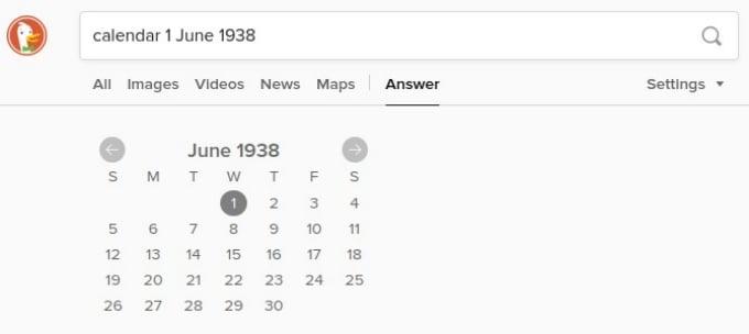 Find Calendars on DuckDuckGo