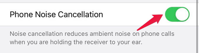 iPhone Noise Cancelling for Audio Calls Control