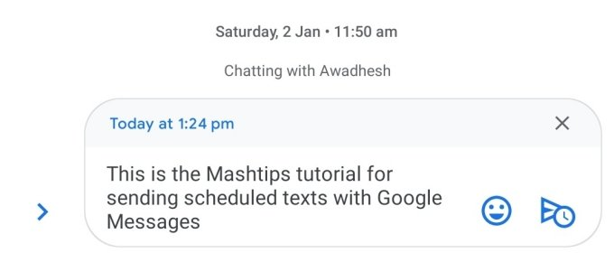 schedule a text message on Android