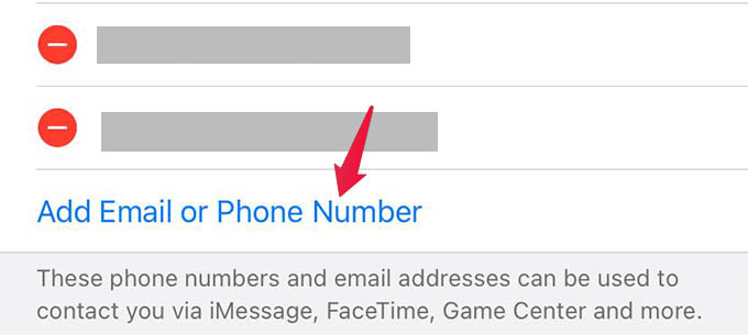 Add Email or Phone Number for iMessage and FaceTime on iPhone