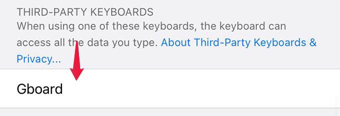 Add Gboard on iPhone